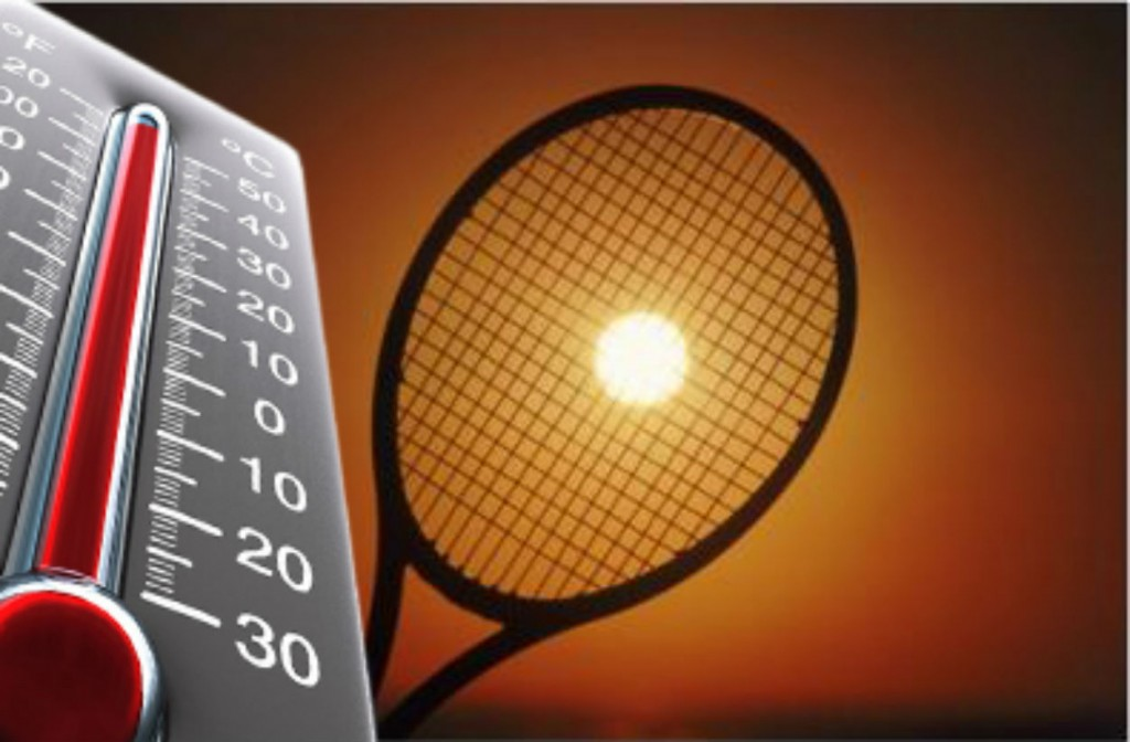 Tennis strings and heat